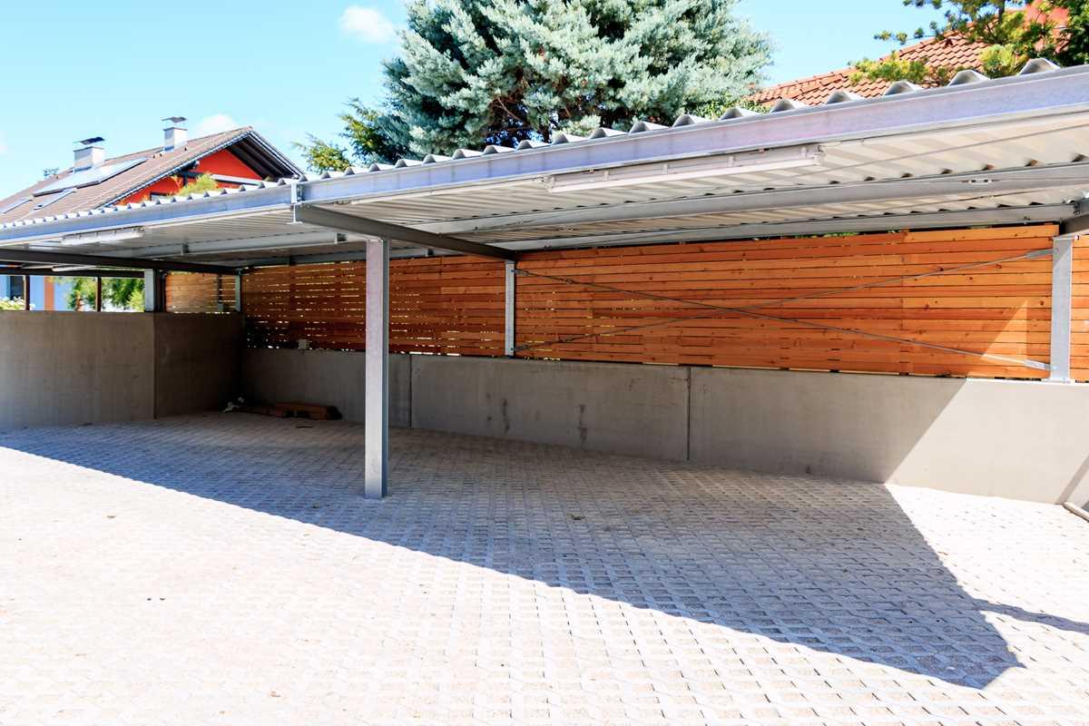 carport stahl verzinkt metallbau gruner. Black Bedroom Furniture Sets. Home Design Ideas