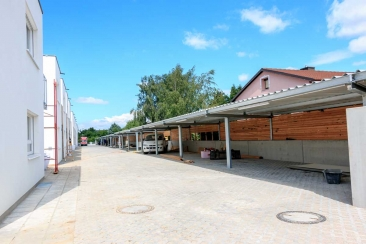 Carport (Stahl - verzinkt) mit Trapezblechüberdachung