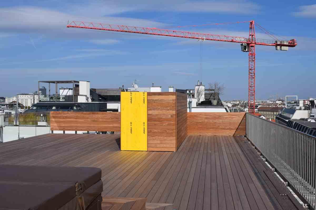 Stahl-Unterkonstruktion für Holzeinhausung